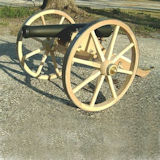 12 inch Wood Wagon Wheel used on small cannon