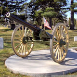 Crystal Lake Cemetery Minneapolis, MN, 57in Wood Cannon Wheels with Archibald Hubs