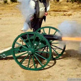 30in Wood Cannon Wheels Firing