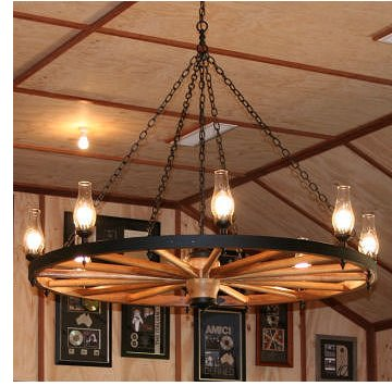 Wagon Wheel Chandeliers Information and History