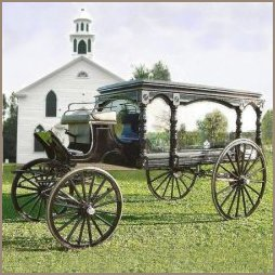 1880's Style Horse Drawn Hearse