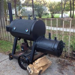 Smoker, BBQ, Steel Wagon Wheels