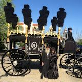 Lincoln Hearse ready to start trip to Old State Capitol
