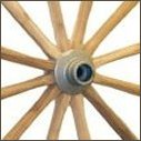 Solid Aluminum Hub, Wood Wagon Wheel