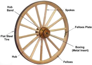 Wood Hub Wagon Wheel
