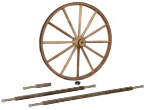 Wood Wagon Wheel With Axles