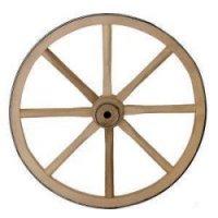 1080 - 12'' Wood Wagon Wheels, Wood Hub
